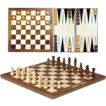 3 in 1wooden games