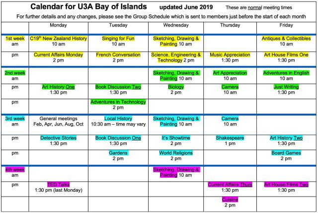 U3A Calendar 2019-06